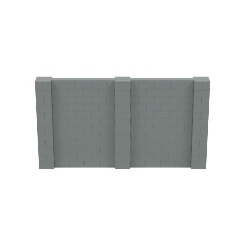 11' x 6' Silver Simple Block Wall Kit