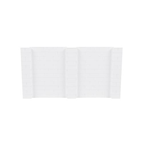 11' x 6' White Simple Block Wall Kit