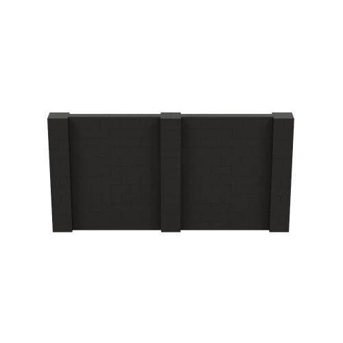 12' x 6' Black Simple Block Wall Kit