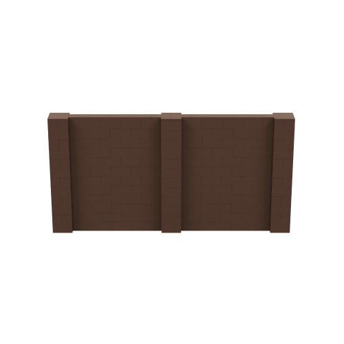 12' x 6' Brown Simple Block Wall Kit
