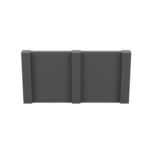 12' x 6' Dark Gray Simple Block Wall Kit