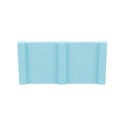 12' x 6' Light Blue Simple Block Wall Kit