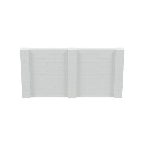 12' x 6' Light Gray Simple Block Wall Kit