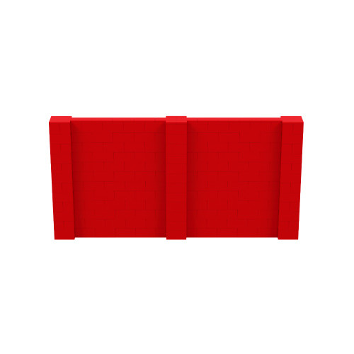 12' x 6' Red Simple Block Wall Kit