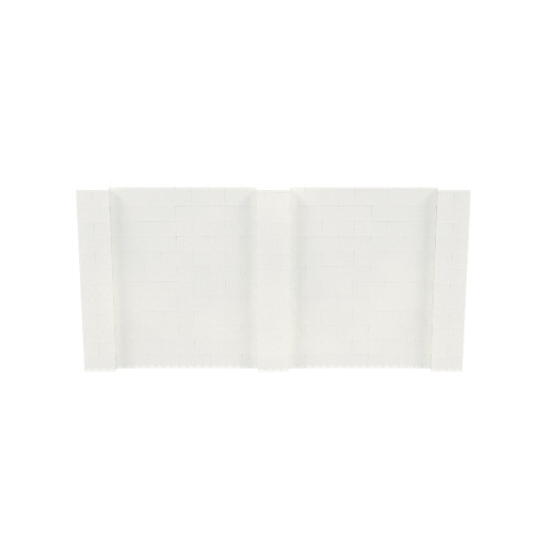 12' x 6' Translucent Simple Block Wall Kit