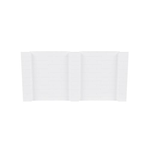 12' x 6' White Simple Block Wall Kit