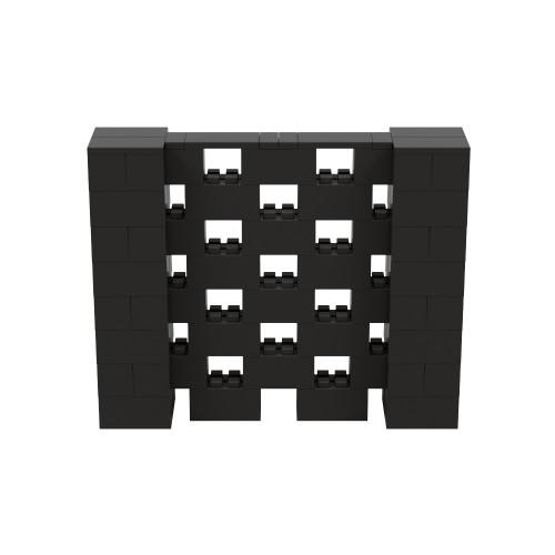 5' x 4' Black Open Stagger Block Wall Kit