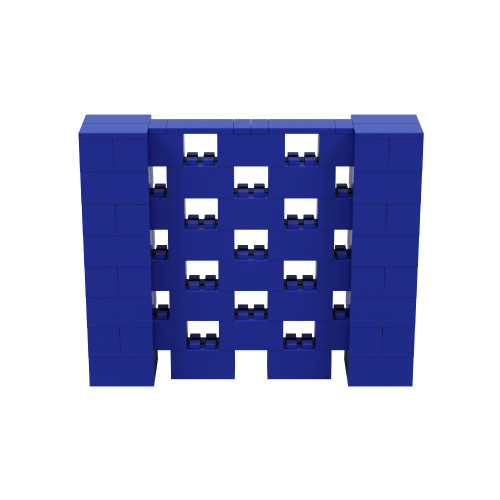 5' x 4' Blue Open Stagger Block Wall Kit