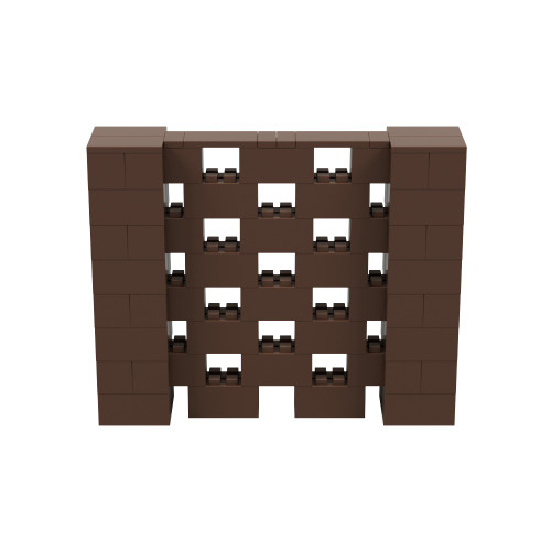 5' x 4' Brown Open Stagger Block Wall Kit