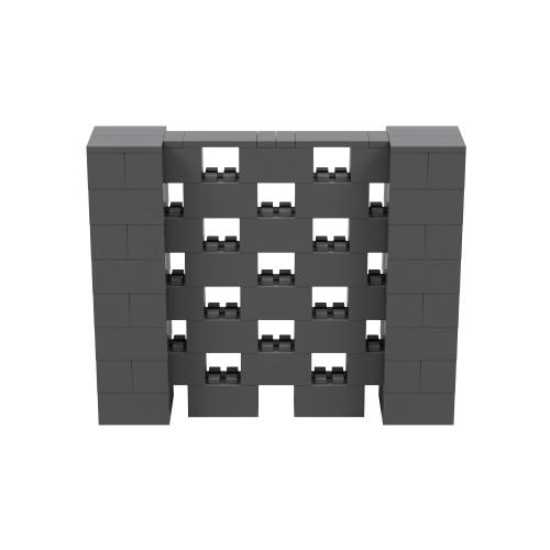 5' x 4' Dark Gray Open Stagger Block Wall Kit
