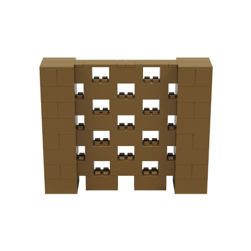 5' x 4' Gold Open Stagger Block Wall Kit