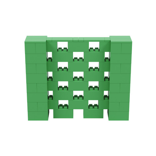 5' x 4' Green Open Stagger Block Wall Kit