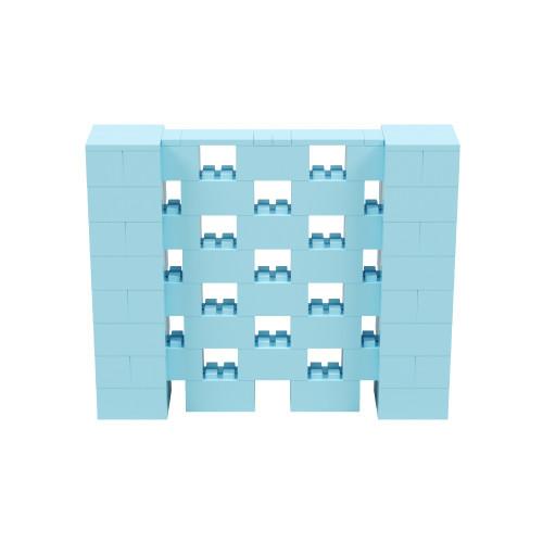 5' x 4' Light Blue Open Stagger Block Wall Kit