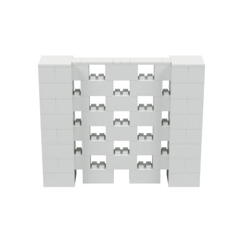 5' x 4' Light Gray Open Stagger Block Wall Kit