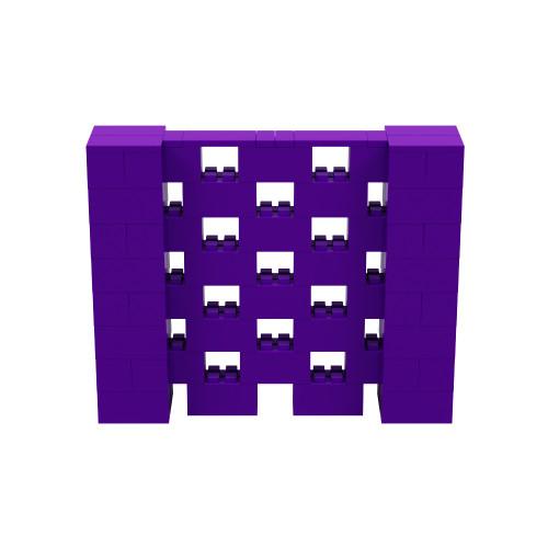 5' x 4' Purple Open Stagger Block Wall Kit