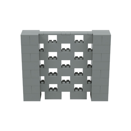 5' x 4' Silver Open Stagger Block Wall Kit