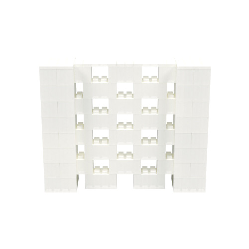 5' x 4' Translucent Open Stagger Block Wall Kit