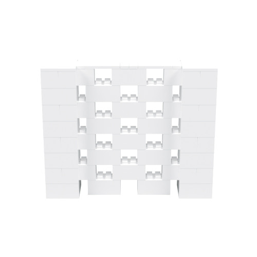 5' x 4' White Open Stagger Block Wall Kit