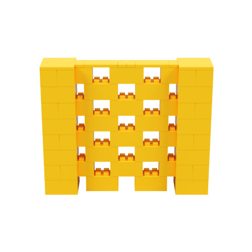5' x 4' Yellow Open Stagger Block Wall Kit