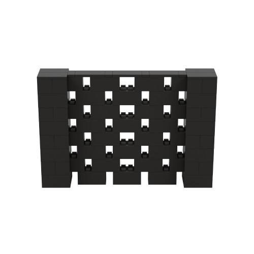 6' x 4' Black Open Stagger Block Wall Kit