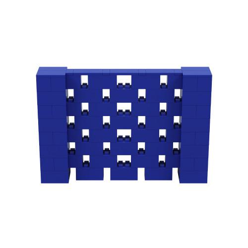 6' x 4' Blue Open Stagger Block Wall Kit