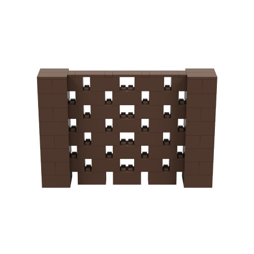 6' x 4' Brown Open Stagger Block Wall Kit