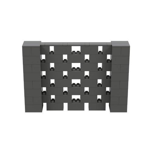 6' x 4' Dark Gray Open Stagger Block Wall Kit