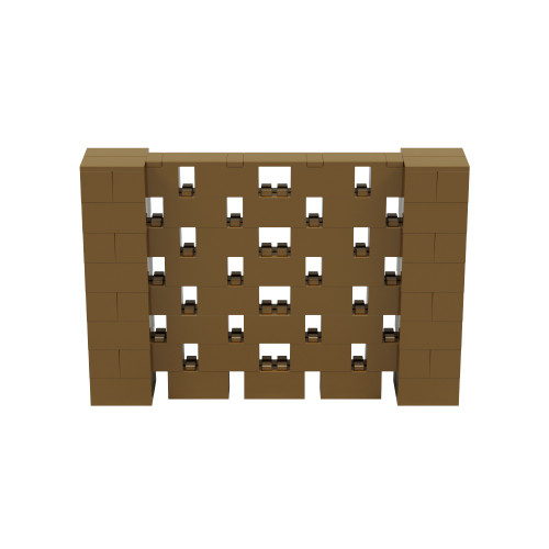 6' x 4' Gold Open Stagger Block Wall Kit