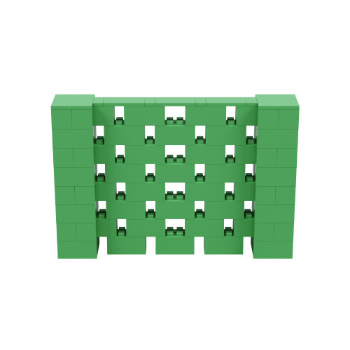 6' x 4' Green Open Stagger Block Wall Kit