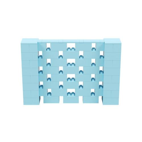 6' x 4' Light Blue Open Stagger Block Wall Kit