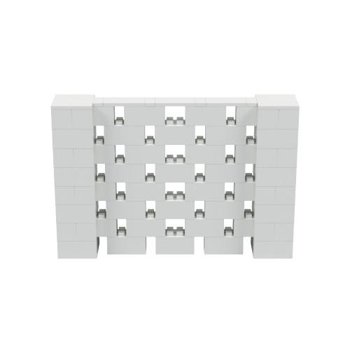6' x 4' Light Gray Open Stagger Block Wall Kit