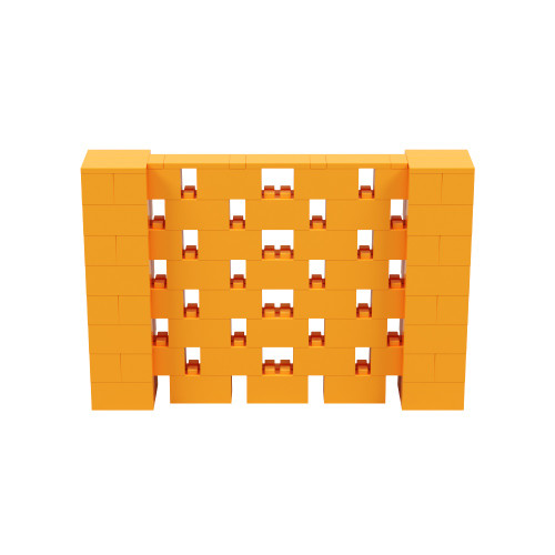6' x 4' Orange Open Stagger Block Wall Kit