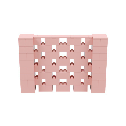 6' x 4' Pink Open Stagger Block Wall Kit