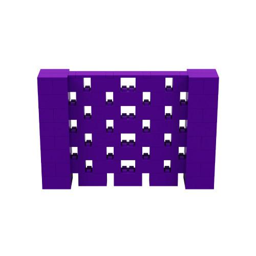 6' x 4' Purple Open Stagger Block Wall Kit