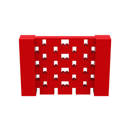 6' x 4' Red Open Stagger Block Wall Kit