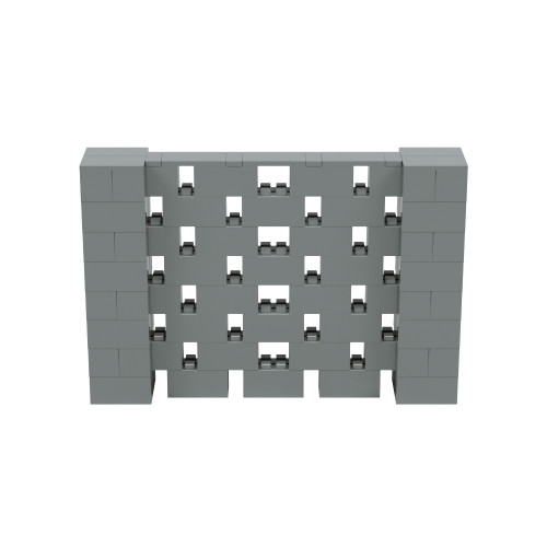 6' x 4' Silver Open Stagger Block Wall Kit