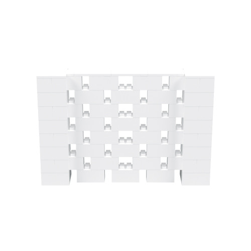 6' x 4' White Open Stagger Block Wall Kit