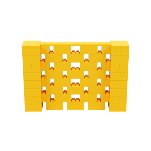 6' x 4' Yellow Open Stagger Block Wall Kit