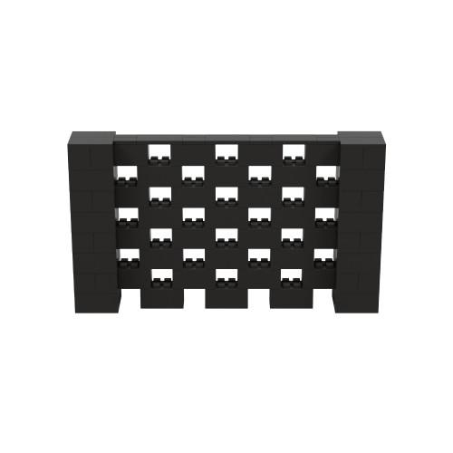 7' x 4' Black Open Stagger Block Wall Kit