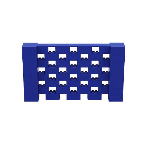 7' x 4' Blue Open Stagger Block Wall Kit