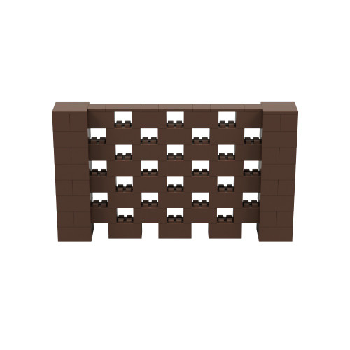 7' x 4' Brown Open Stagger Block Wall Kit