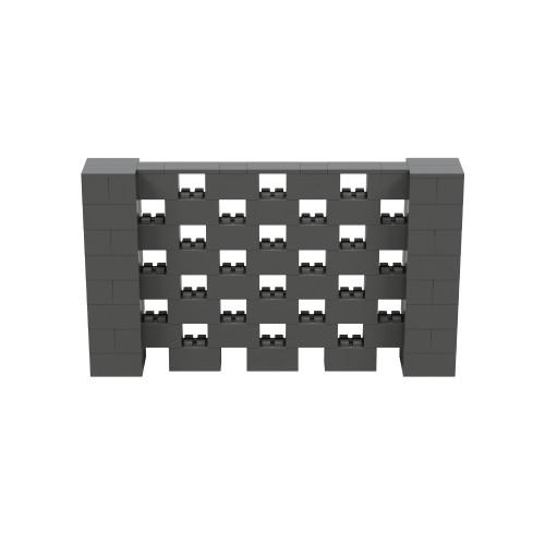 7' x 4' Dark Gray Open Stagger Block Wall Kit
