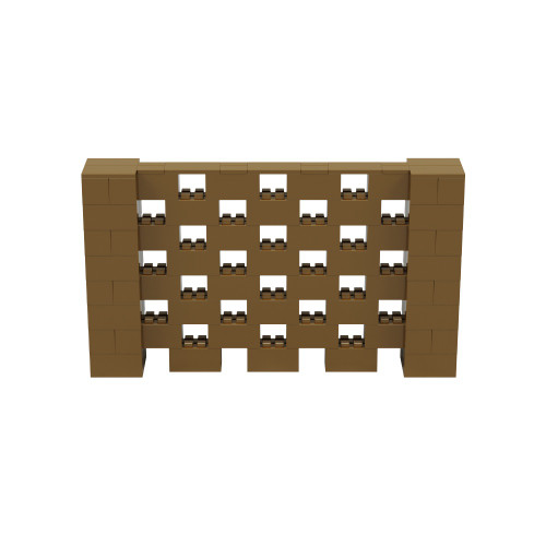 7' x 4' Gold Open Stagger Block Wall Kit