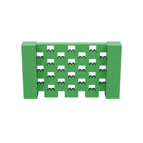 7' x 4' Green Open Stagger Block Wall Kit