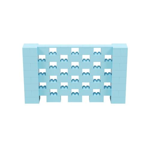 7' x 4' Light Blue Open Stagger Block Wall Kit