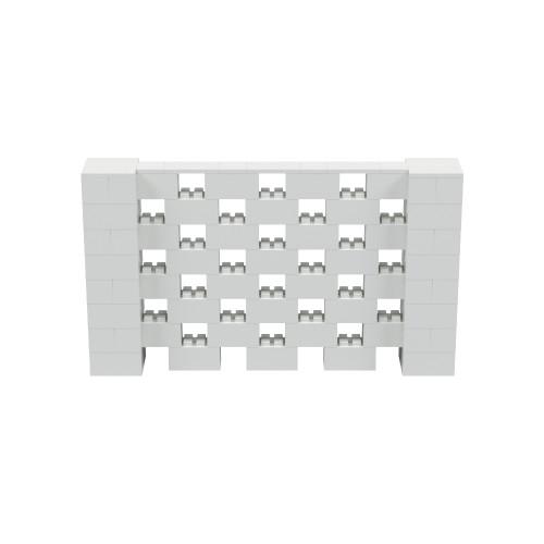 7' x 4' Light Gray Open Stagger Block Wall Kit