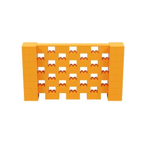 7' x 4' Orange Open Stagger Block Wall Kit