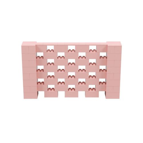 7' x 4' Pink Open Stagger Block Wall Kit