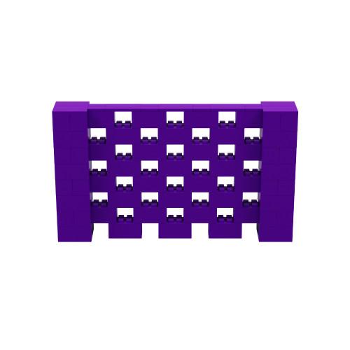 7' x 4' Purple Open Stagger Block Wall Kit