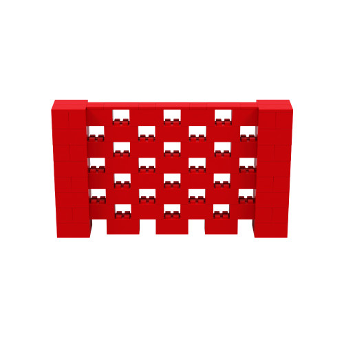 7' x 4' Red Open Stagger Block Wall Kit